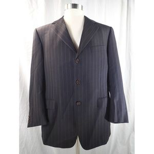 CANALI Super Mens Striped Suit/Blazer SZ41/42 C238